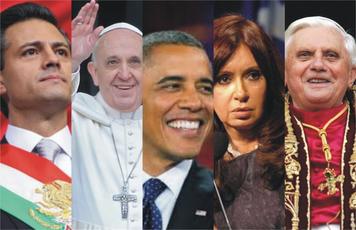 Obama Peña Nieto Cristina Francisco Papa Benedicto